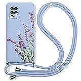 Pnakqil Collier Coque pour Xiaomi Mi 8 Lite 6,26', Mauve Silicone TPU Motif Antichoc Bumper Etui...
