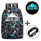 Gorgebuy Luminous Fortnite Backpack–Galaxy Schoolbag Glow in Dark Mochila...