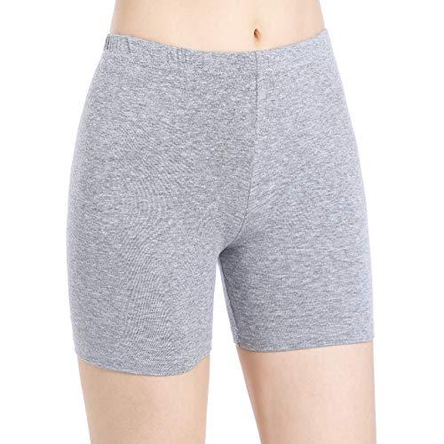 Leggings corti da donna, aderenti, elasticizzati, per yoga, fitness - Grigio - M