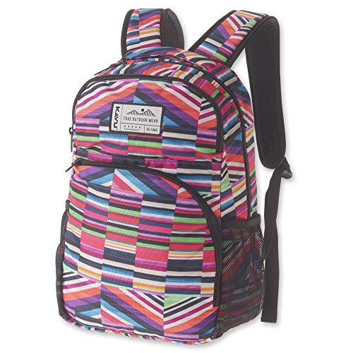 KAVU Packwood Backpack with Padded Laptop and Tablet Sleeve - Jewel Stripe
