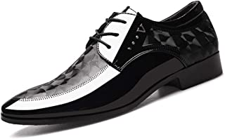 Men's Glossy Oxford Shoes Formal Shoes (Color : Black, Size : 46)