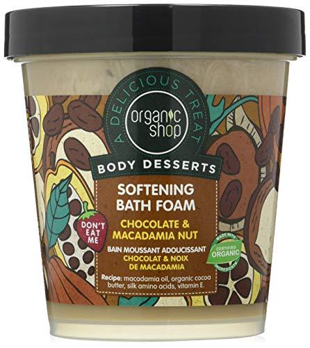Organic Shop Espuma de Baño con Chocolate y Nuez de Macadamia - 450 ml