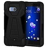 AMZER Dual Layer Hybrid Kickstand Case Cover for HTC U11 -