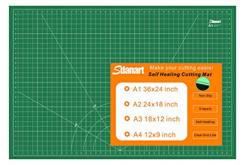 """Sdanart Self Healing Cutting Mat: 24""""×36"""" Double Sided 5-Ply Rotary Cutting Board for Sewing, Crafts, Quilting, Fabric, Hobby, Art Project"""