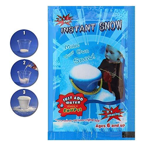 Neve Instantanea Artifical para Slime Cloud ou Decoração Frozen, Era do Gelo, Natal