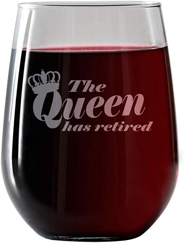 IT S A SKIN The Queen Has Retired Stemless Wine Glass 17oz For Red And White Wine Great Gift For Her Him Travel Includes Free Wine Food Pairing Card