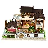 #N/A DIY Kit Dollhouse Miniature avec des Meubles, 3D en Bois Miniature Maison Chinois Style Chalet Villa, Miniature Poupées Maison kit