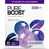 Pureboost Clean Energy Drink Mix + Immune System Support. Sugar-Free Energy with B12, Multivitamins,...