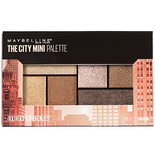 Maybelline New York Makeup The City Mini Eyeshadow Palette, Rooftop Bronzes Neutral Eyeshadow,...