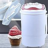 Mini lavadora 2 en 1, deshidratación, portátil, para camping, color rosa/dorado, 54 x 35 x 34 cm, 6 kg (rosa)