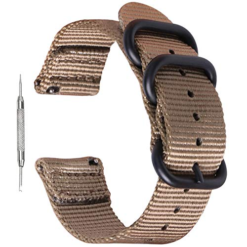 Zeit Diktator 20mm 22mm watch band ナイロン製スポーツウォッチストラップ と互換性があります samsung watch 3 Gear S3 Huawei GT 2 Garmin vivomove 4 Forerunner