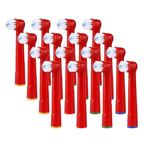 16pcs de reemplazo niños de los niños de Dientes Cabezas de Cepillo for Oral-B Cepillo de Dientes eléctrico Fit Advance Power/Pro Health3D Excel