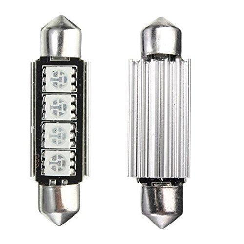 KATUR Ampoule navette 4 LED 5050 SMD Canbus 42 mm