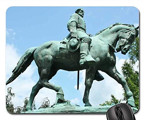 Mauspad Statue Bronze Pferd Reitersoldat Mausunterlage Anti Rutsch Gummiunterseite Multifunktionales Gaming Mousepad Hochwertiges Gaming Mausmatte Für Laptop/Pc, 25X30 Cm