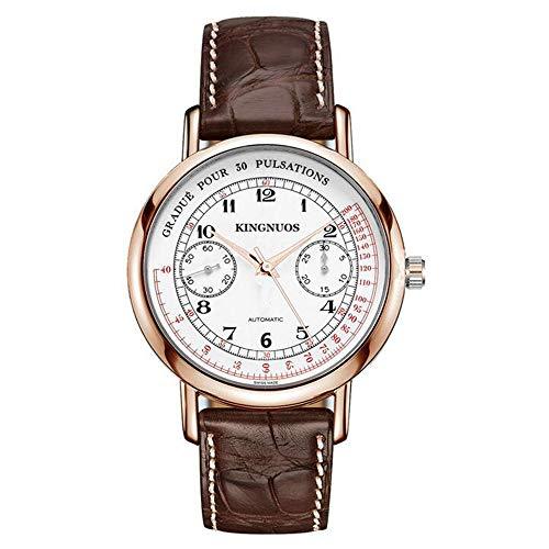 ZSDGY Doble 5-Pin Reloj De La Correa Ocasional con Estilo Racing-Tablero De Instrumentos del Tipo De Marcación De Reloj De Cuarzo E