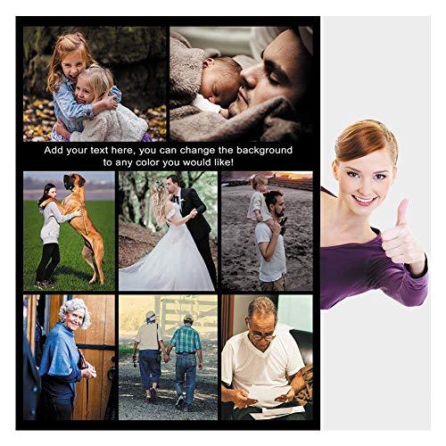 Haisimiery Personalisierbare Foto-Fleecedecke mit Bild zum Geburtstag, Hochzeit, Geschenk für Erwachsene, Baby, Haustier, 8 Fotos Nr. 01 (120 x 150 cm)