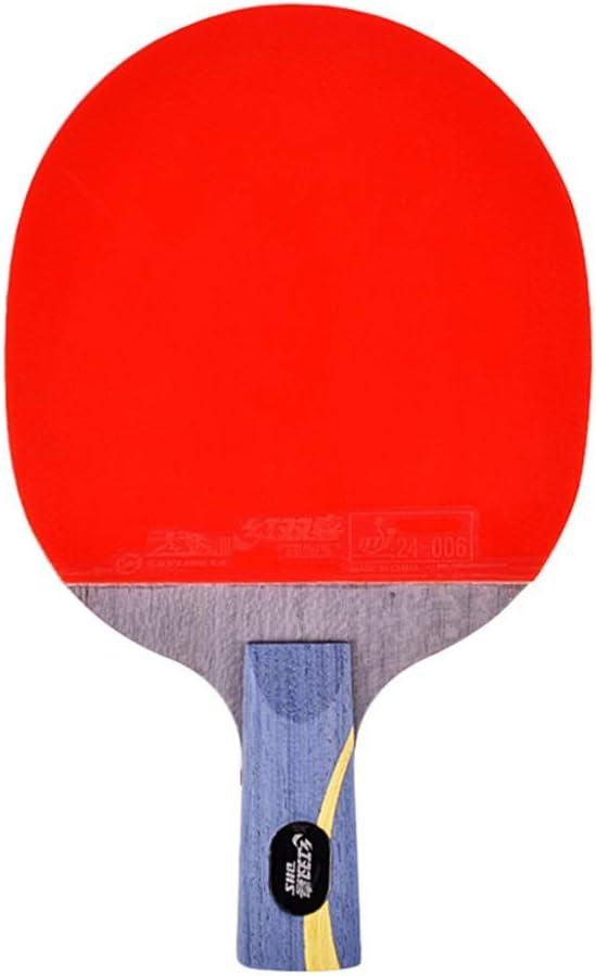 KCGNBQING Mesa de Tenis Profesional de Mesa, 5 Capas de Madera Pura Ping Pong Paddle, excelente Rendimiento, for Jugadores Profesionales y avanzados / 8 Estrellas/Mango Largo
