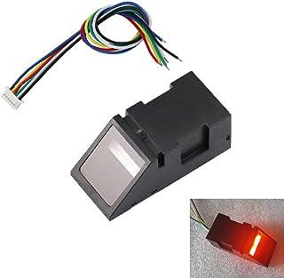 Aihasd Luz roja Lector de Huellas Dactilares óptico Módulo Sensor para Arduino Mega2560 UNO R3 51 AVR STM32 DC3.8-7V