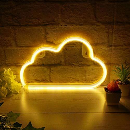 LED-Neonlicht/Wandleuchte für Zuhause, Kinderzimmer, Shop, Dekoration White Cloud