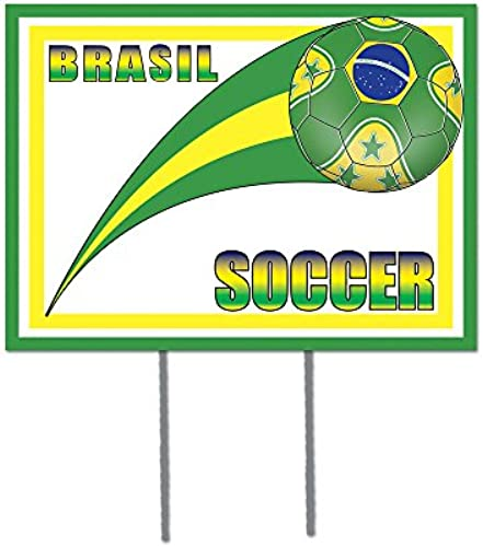 Beistle Party Dekoration Kunststoff Yard Sign Brasil 30,5 40,6cm-6 ück