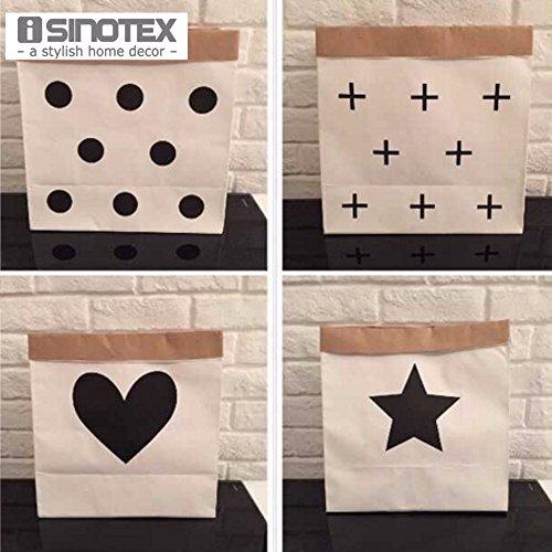 Generic M 2 Einkaufstasche aus Kraftpapier, Spielzeug-Organizer, Wohnzimmer-Tasche, faltbar
