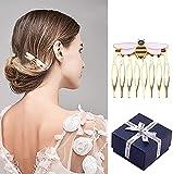 Peine para el pelo, horquillas, peine de abeja para mujer, esmaltado, peinetas laterales para decorar tocados de fiesta, accesorios de moda para niñas