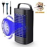 Mayepoo Anti-Moustique Lampe UV Moustique Tueur Lampe LED Répulsif Tueur de Moustiques Piège à Insectes Volants Électrique 6W Destructeur de Moustiques, Pas de Chimique, Non Toxique