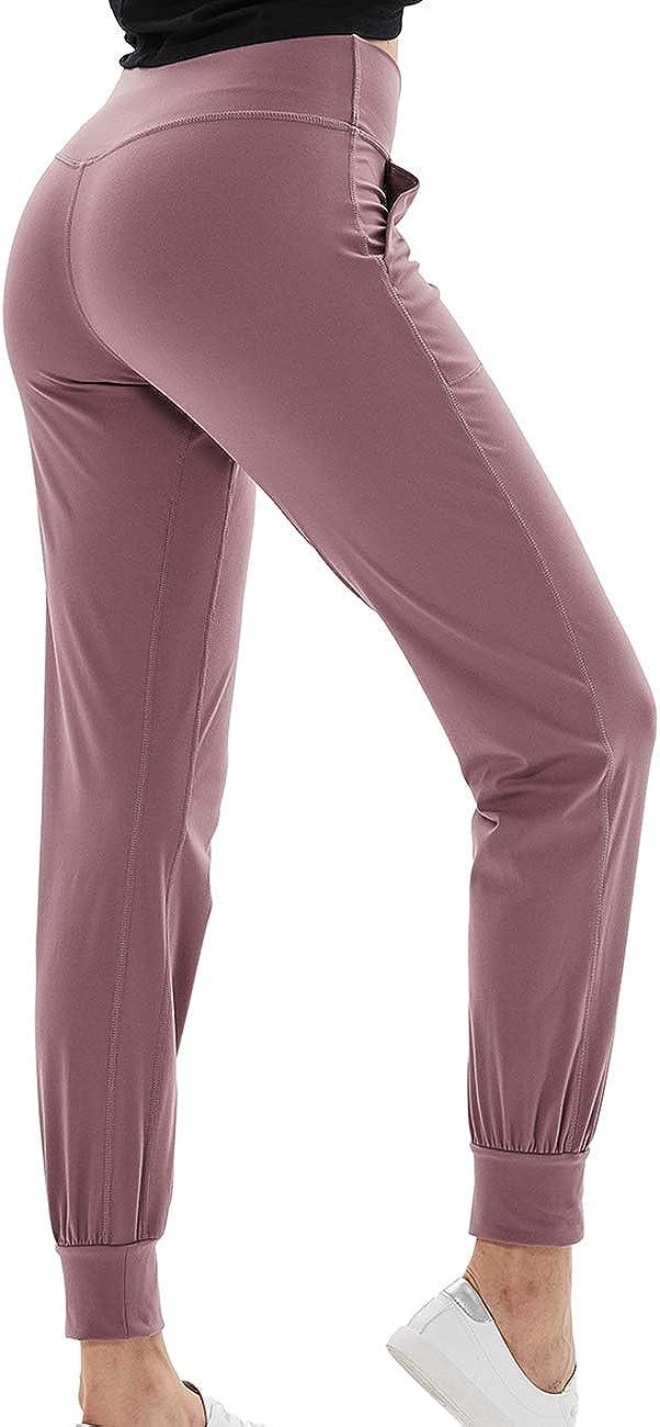 yoga allenamento joggers in esecuzione pantaloni lounge pantaloni con tasche pantaloni attivi della tuta a vita alta TOKY pantaloni da donna