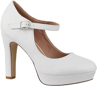 Zapato de Tacón Alto con Correa Mujer Vintage Chunkyrayan