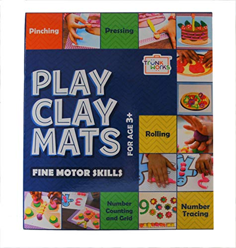 Trunk Works PlayClay Mats to be Played with Clay or Play Doh or Play Dough Develops fine Motor Skills Numbers Imagination and Creativity Unique Creative prompts.