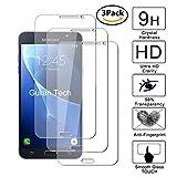 Guran [3-Unidades] Protector de Pantalla Vidrio Cristal Templado para Samsung Galaxy J7 2016 J710 Smartphone Cristal Vidrio Templado Film (9H, 2.5D Edge, 0.3mm)
