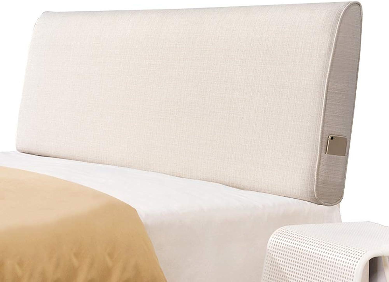 WZB Coussin de tête de lit Coussin Anti-Collision en Lin Respirant Confortable supportant la Taille, Facile à Nettoyer, 5 Tailles, 6 Couleurs (Couleur  B-Beige, Taille  150x60x10cm)