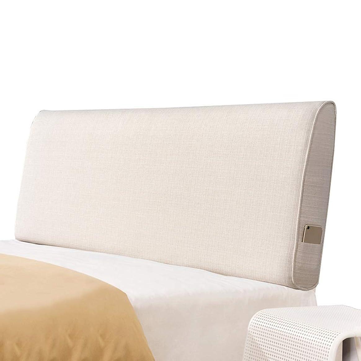 ノート慢動揺させるWZBヘッドボードクッションアンチコリジョンピローフラックス通気性快適ウエストを簡単にサポート、5サイズ、6色(カラー:Bベージュ、サイズ:150x60x10cm)