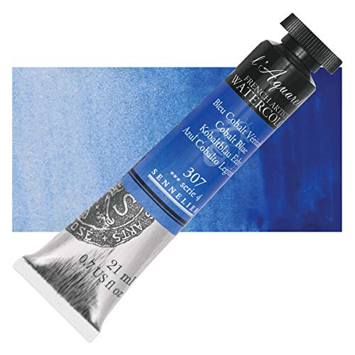 Sennelier L'Aquarelle French Watercolor, 21ml Tube, S4 Cobalt Blue
