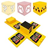 WIKEA Estuche para Tarjeta de Memoria Nintendo Switch, portatarjetas para Videojuegos con 16 Ranuras para Tarjetas (Amarillo Pikachu)