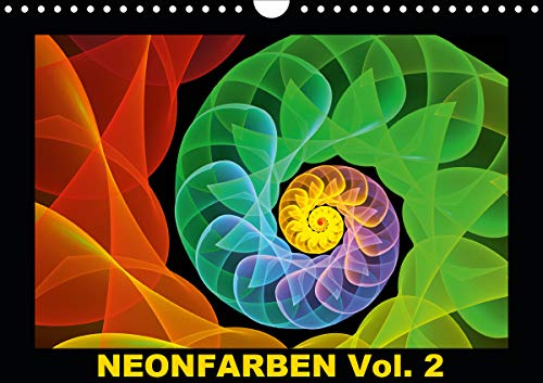 Neonfarben Vol. 2 / CH-Version (Wandkalender 2021 DIN A4 quer)