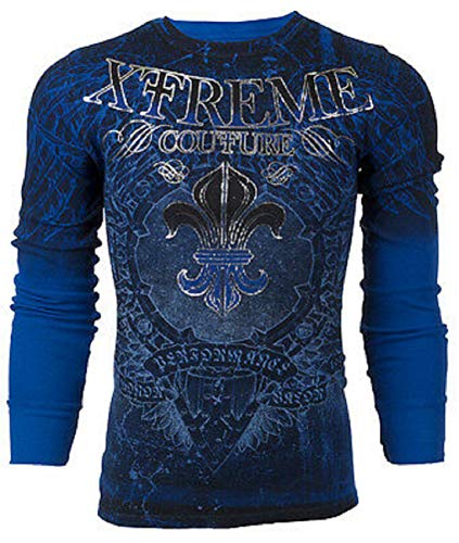 Affliction  Mens Thermal T-Shirt Honorable Biker MMA (XX-Large) Black