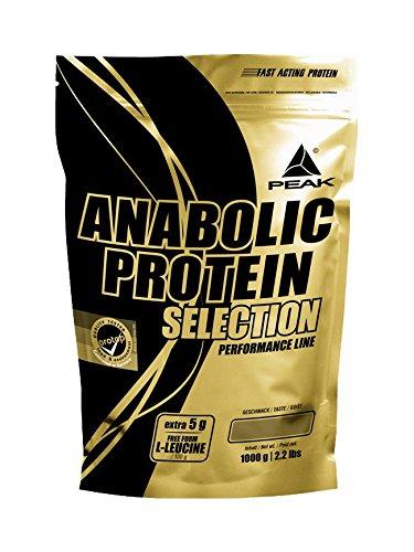 PEAK Anabolic Protein Selection - 1000g - Protein Matrix aus Soja Protein & Whey Protein (500g, Schoko)