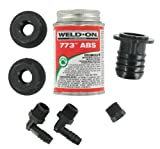 Valterra RK908 ABS Tank Fill Kit - Straight Barbed Fill with Cement...