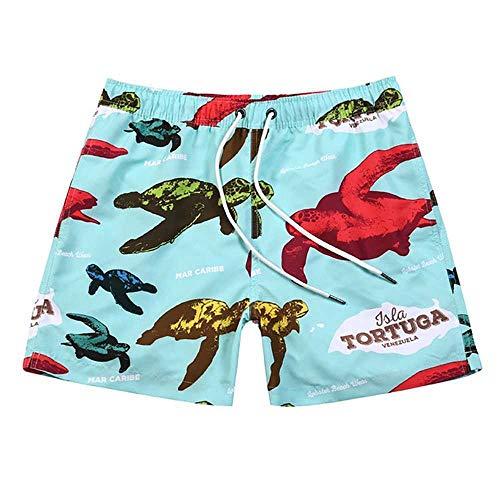 L.J.JZDY pantalones cortos de playa para surf, natación, pantalones de playa para hombre, pantalones cortos de natación para playa, secado rápido, con cordón ajustable en la cintura y media longitud, poliéster, 1, XX-Large