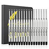Nekigoen Parker Compatible Ballpoint Pen Refills Work for Most Brands Pens with Smooth Writing, Waterman Compatible Spring Refill Replaceable Twist Action Medium Point Refills 1.0mm Pack of 15 (Black)
