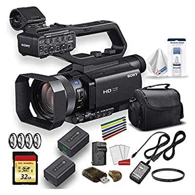 Sony HXR-MC88 Full HD Camcorder with Large Soft Case, Extra Battery, 32GB Memory Card, Memory Card Reader, UV Lens Filter, Close Up Diopters, Cleaning Set and More - Advanced Bundle (Renewed) from Sony