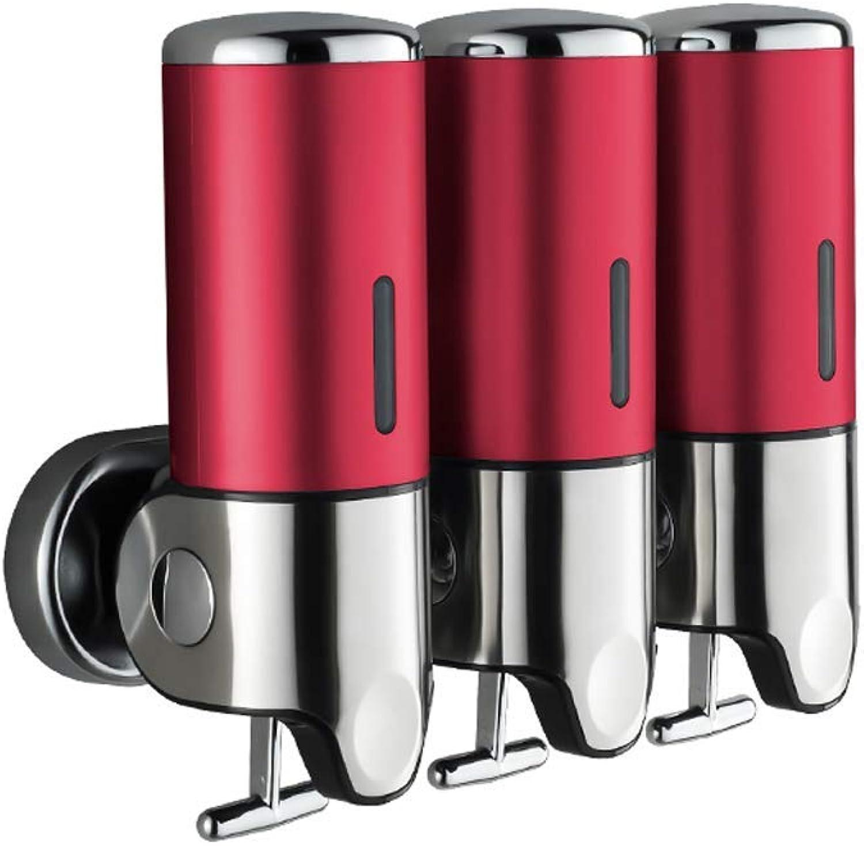 SunXue Shelves Soap Dispenser Red Kitchen Sink with Detergent Bottle Pressed Bottle Sink Detergent 304 Stainless Steel Presser (color   Red)