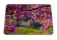22cmx18cm マウスパッド (木の枝の自然の花) パターンカスタムの マウスパッド