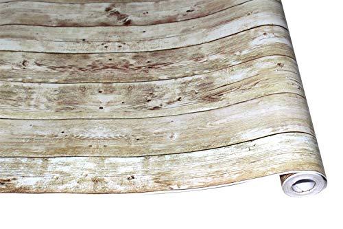 Behang Behang 3d Regenjas Vintage Houten Paneel Behang voor muren ego lijm Contact paper Hotel Bibliotheek Slaapkamer Woonkamer behang pasta 0.45x6m B