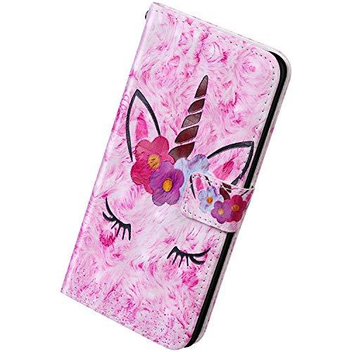 Herbests Kompatibel mit Samsung Galaxy A51 Hülle Handytasche Leder Handyhülle 3D Bunt Glitzer Bling Glänzend Schutzhülle Flip Case Brieftasche Klapphülle Wallet Tasche,Sonnenblume