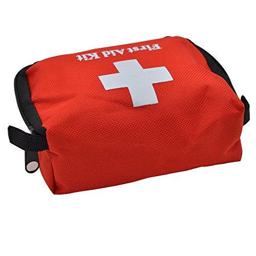 Yuan Ou Trousse de Secours Portable Cute Emergency Survival Kit Sport Kits De Voyage Home Medical Bag Outdoor Car First Aid Bag 14 * 9 * 5CM Rouge