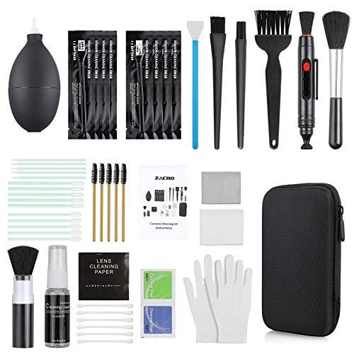 Zacro18-in-1Kit di Pulizia Professionale per Fotocamera,Accessori per la Pulizia Della Fotocamera, Panno per la Pulizia Spazzola per Lenti e Detergente per Lenti