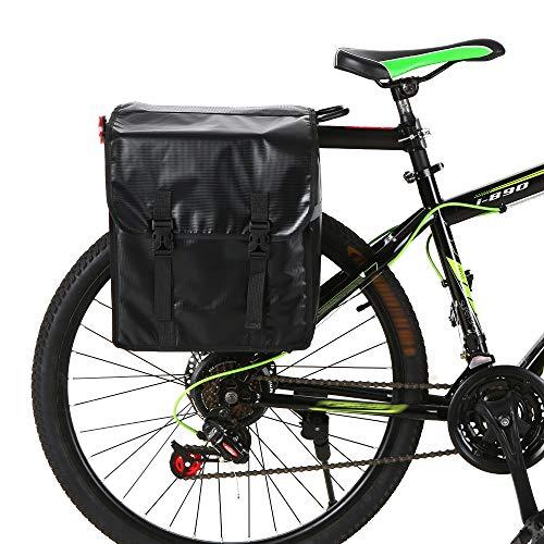 Bolsa de Silla de Montar Bicicleta, Bolso de Bicicleta 28L Bicicletas Bicicletas Bolsa Resistente al Agua Resistente al Agua Rack Trasero Trasero Bolsas de Tronco de Asiento MTB Montañ