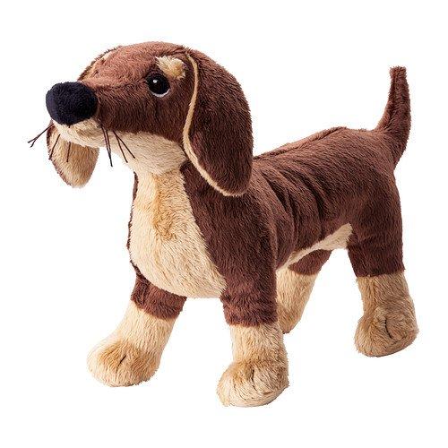 Ikea Smaslug–Kuscheltier, Hund, braun–72x 40x 108cm